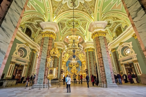Russia-St-Petersburg-Saints-Peter-and-Paul-Cathedral-Interior
