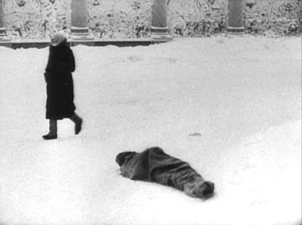 frozen body in the snow